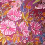 Батик шаль «Август-грозди». Шелковая шаль ручной работы.
