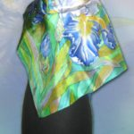 Батик платок «Грёзы». Шелковый платок ручной работы.
