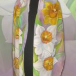Батик шарф «Мечты без названия». Шелковый шарф ручной работы.