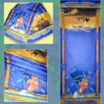 Батик палантин «Нефертити». Шелковый палантин ручной работы.