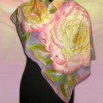 Батик платок «Каприз». Шелковый платок ручной работы.