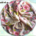 Батик шарф «Шиповник-дикая роза». Шелковый шарф ручной работы.