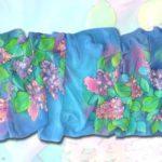 Батик шарф «Расцвела сирень». Шелковый шарф ручной работы.