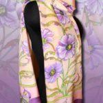 Батик шарф «Вдохновение». Шелковый шарф ручной работы.