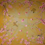 Батик платок «Весна». Шелковый платок ручной работы.