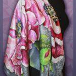 Батик платок «Серенада». Шелковый платок ручной работы.