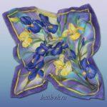 Батик платок «Цветы Флоренции». Шелковый платок ручной работы.