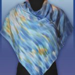 Батик платок «К.О. Моне «Большой канал». Шелковый платок ручной работы.