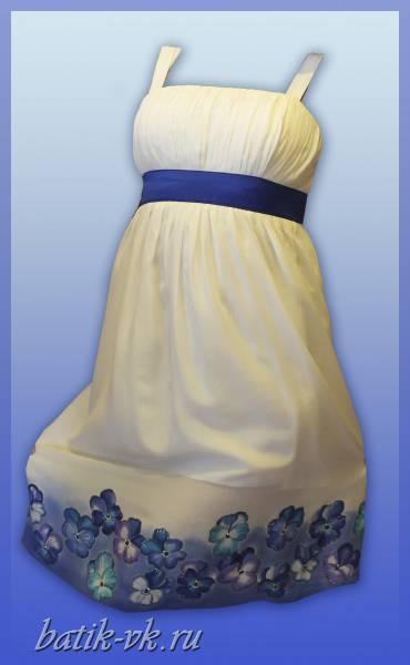 """Свадебное платье батик """"Нежность"""". Шелковое платье с ручной росписью."""