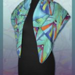 Батик платок «Птица-говорун». Шелковый платок ручной работы.