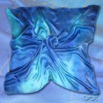 Батик платок «Млечный путь». Шелковый платок ручной работы.