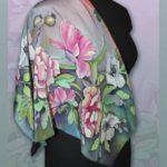 Батик платок «Вдохновленный летом». Шелковый платок ручной работы.