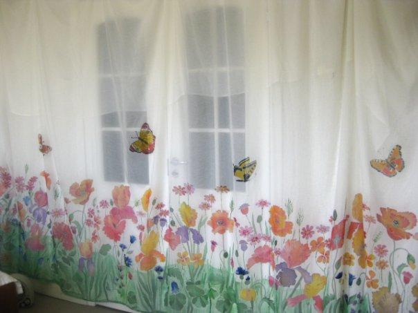 Роспись штор в технике батик