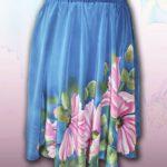 """Батик юбка """"Летний вечер"""". Шелковая юбка с ручной росписью."""