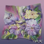 Батик платок «Волшебное утро». Шелковый платок ручной работы.