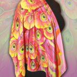 Батик платок «Жар-Птица». Шелковый платок ручной работы.